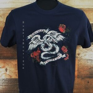 Marc Ecko Navy T-shirt with Graphic Applique Sz S